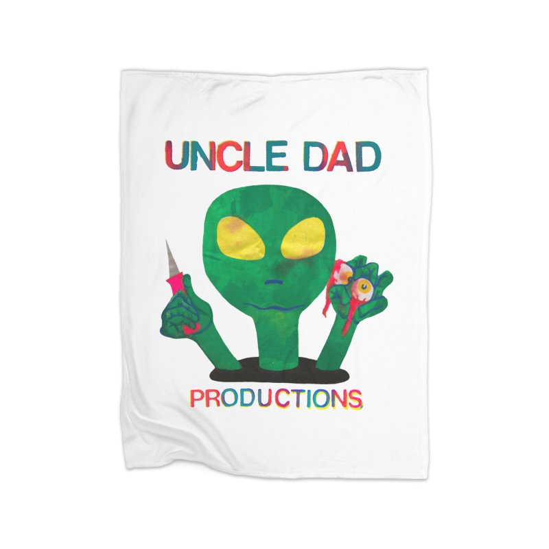 Violent Alien Home Blanket by UNCLE DAD PRODUCTIONS