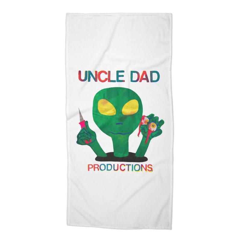 Violent Alien Accessories Beach Towel by UNCLE DAD PRODUCTIONS