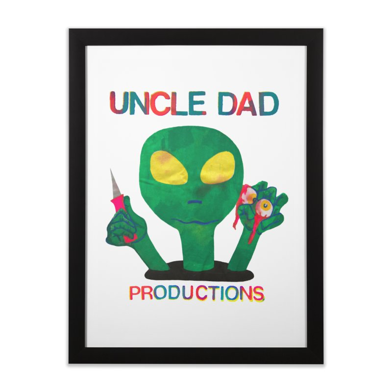 Violent Alien Home Framed Fine Art Print by UNCLE DAD PRODUCTIONS