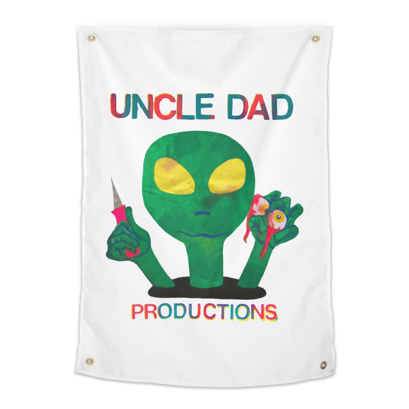 Violent Alien Home Tapestry by UNCLE DAD PRODUCTIONS