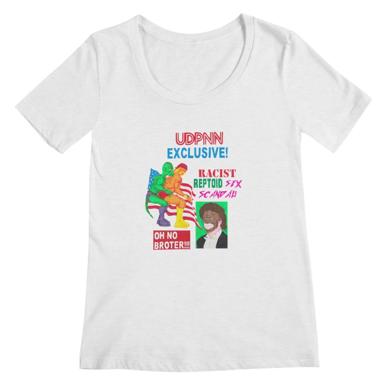 OH NO BROTER! Women's Scoopneck by UNCLE DAD PRODUCTIONS