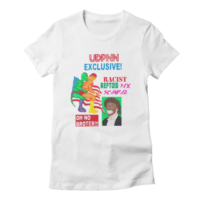 OH NO BROTER! Women's Fitted T-Shirt by UNCLE DAD PRODUCTIONS