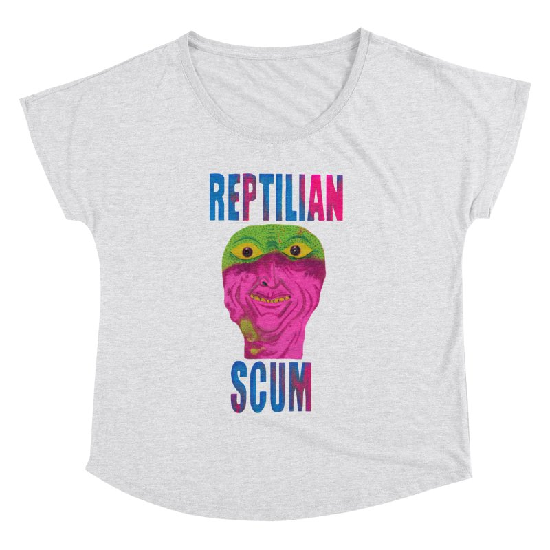 Reptilian George Bush Women's Dolman by UNCLE DAD PRODUCTIONS
