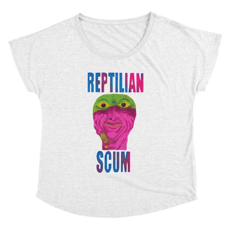 Reptilian George Bush Women's Dolman by UNCLE DAD PRODUCTIONS