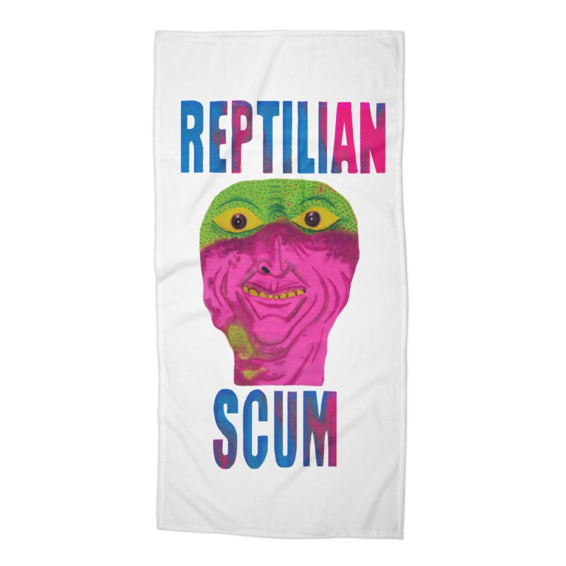 Reptilian George Bush Accessories Beach Towel by UNCLE DAD PRODUCTIONS