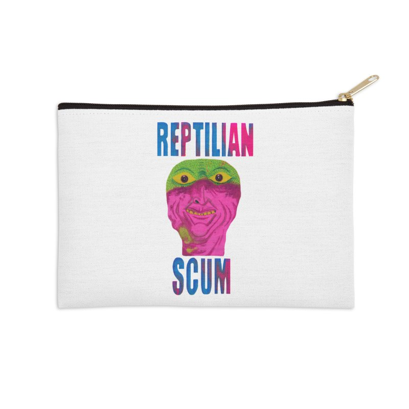 Reptilian George Bush Accessories Zip Pouch by UNCLE DAD PRODUCTIONS