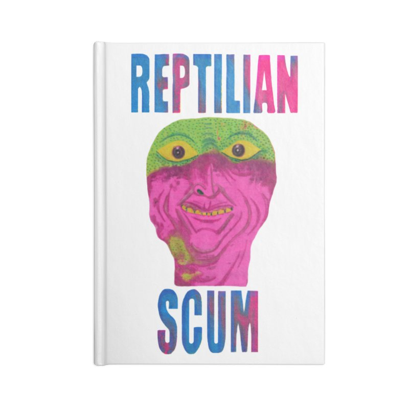 Reptilian George Bush Accessories Notebook by UNCLE DAD PRODUCTIONS