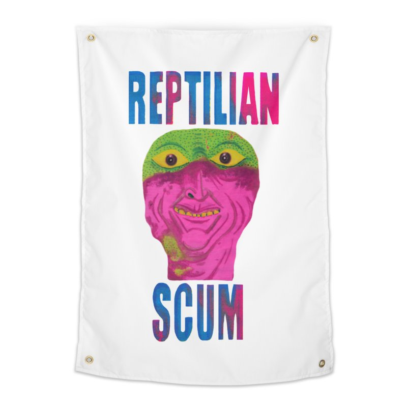 Reptilian George Bush Home Tapestry by UNCLE DAD PRODUCTIONS