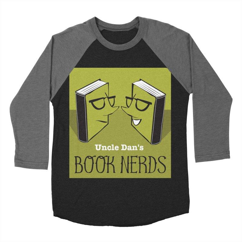 Book Nerds Women's Baseball Triblend Longsleeve T-Shirt by Uncle Dan's Stuff
