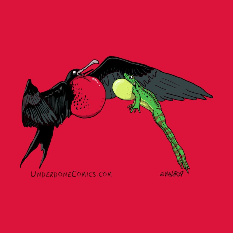 Best Chest Bump Ever - Frigate Bird & Frog Men's T-Shirt by The Underdone Comics Shop