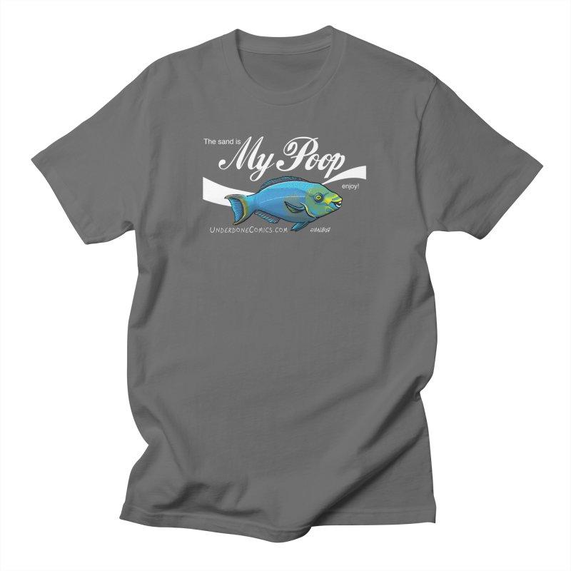 The Sand is Parrotfish Poop! Men's T-Shirt by The Underdone Comics Shop