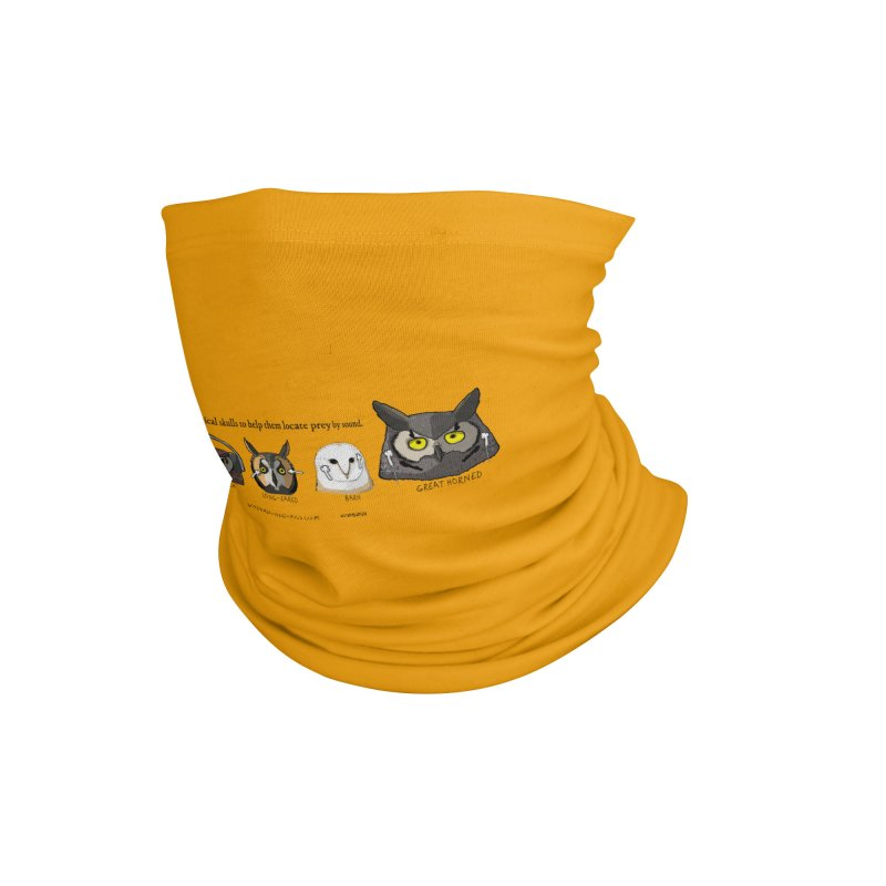 Where the Owl Ears are — In Orange! Accessories Neck Gaiter by The Underdone Comics Shop