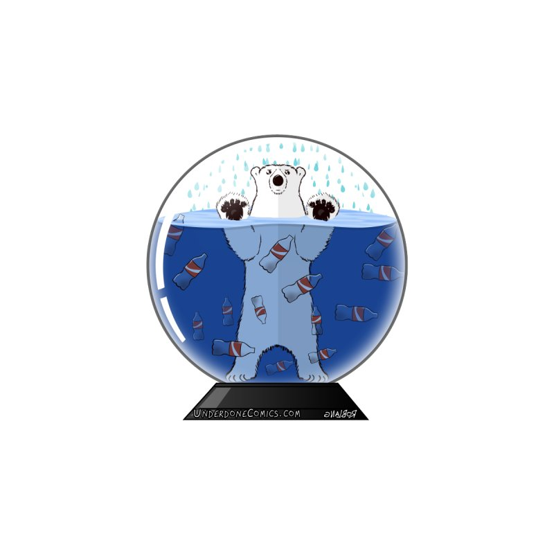 Snowglobe of the Future — with a Polar Bear! Men's T-Shirt by The Underdone Comics Shop