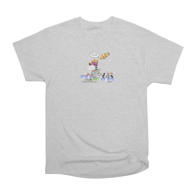 Clownfish Asks: Can I have a turn? Men's T-Shirt by The Underdone Comics Shop