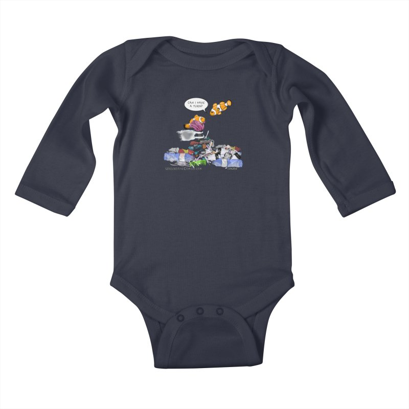 Clownfish Asks: Can I have a turn? Kids Baby Longsleeve Bodysuit by The Underdone Comics Shop