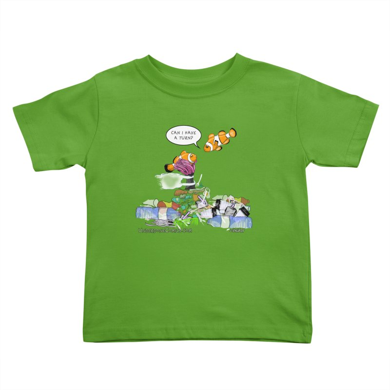 Clownfish Asks: Can I have a turn? Kids Toddler T-Shirt by The Underdone Comics Shop