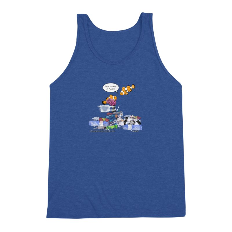 Clownfish Asks: Can I have a turn? Men's Tank by The Underdone Comics Shop