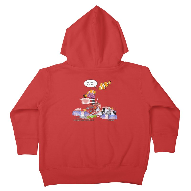 Clownfish Asks: Can I have a turn? Kids Toddler Zip-Up Hoody by The Underdone Comics Shop