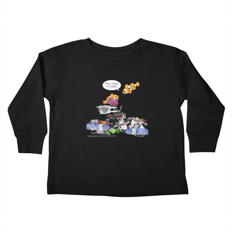 Clownfish Asks: Can I have a turn? Kids Toddler Longsleeve T-Shirt by The Underdone Comics Shop