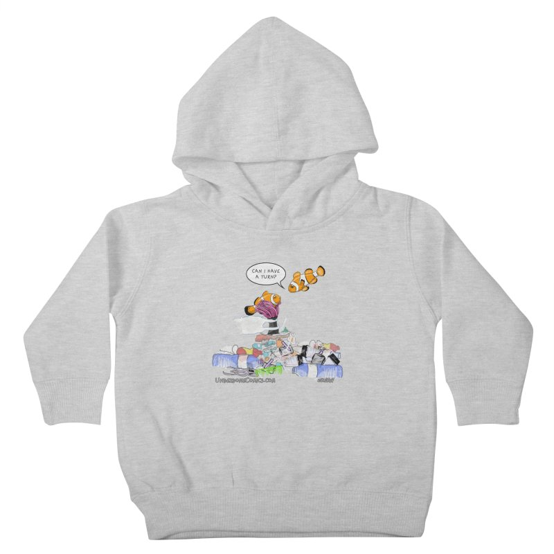 Clownfish Asks: Can I have a turn? Kids Toddler Pullover Hoody by The Underdone Comics Shop