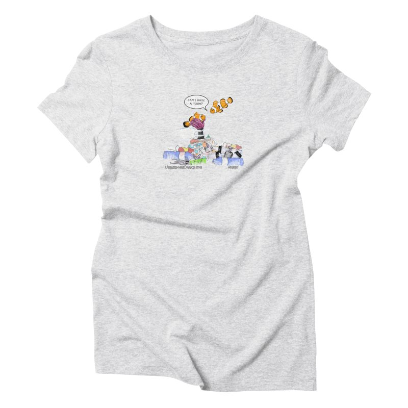 Clownfish Asks: Can I have a turn? Women's T-Shirt by The Underdone Comics Shop