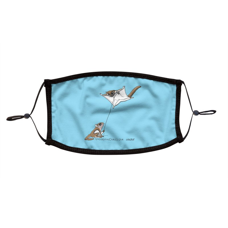 Flying Squirrel Training Accessories Face Mask by The Underdone Comics Shop