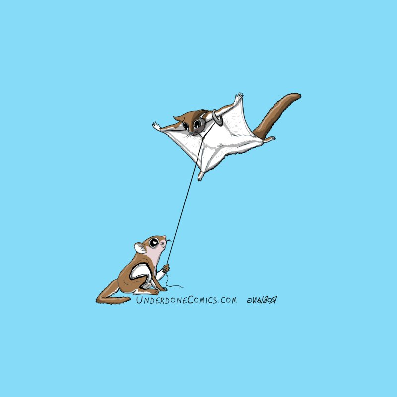 Flying Squirrel Training Kids Baby T-Shirt by The Underdone Comics Shop