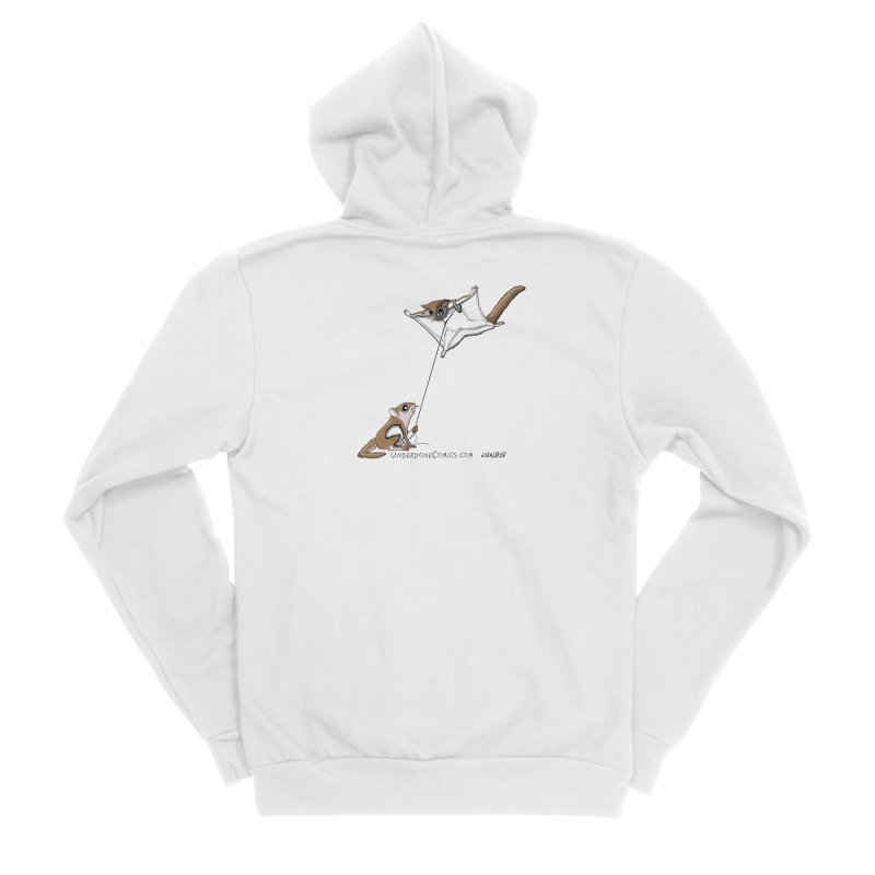 Flying Squirrel Training Men's Zip-Up Hoody by The Underdone Comics Shop