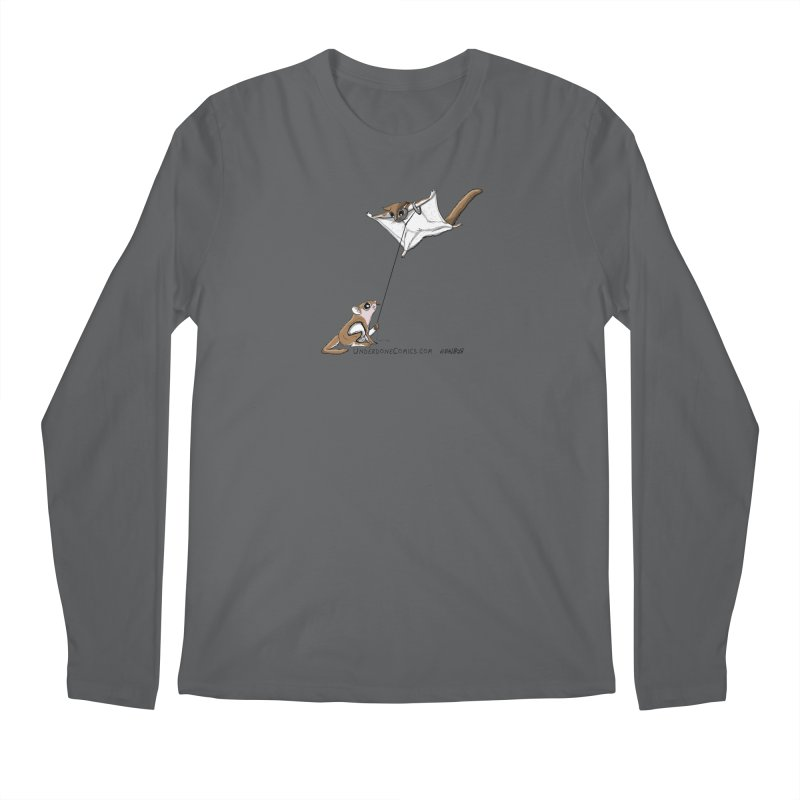 Flying Squirrel Training Men's Longsleeve T-Shirt by The Underdone Comics Shop