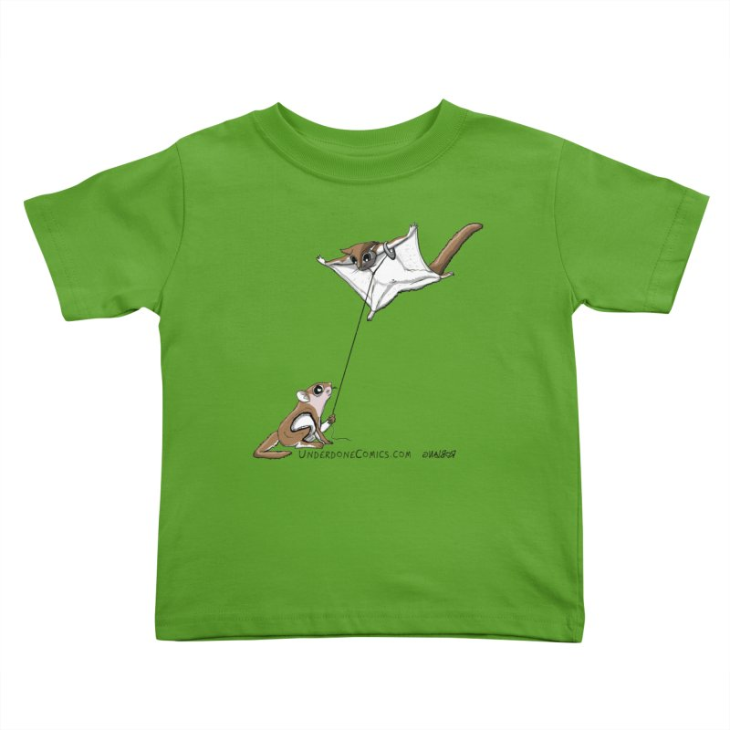 Flying Squirrel Training Kids Toddler T-Shirt by The Underdone Comics Shop