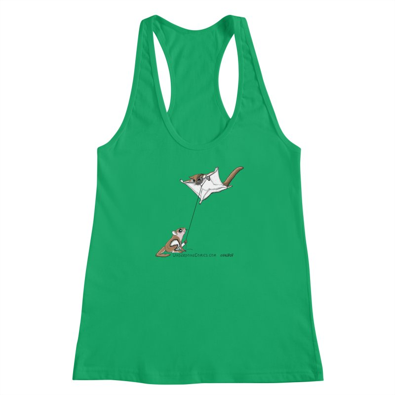Flying Squirrel Training Women's Tank by The Underdone Comics Shop