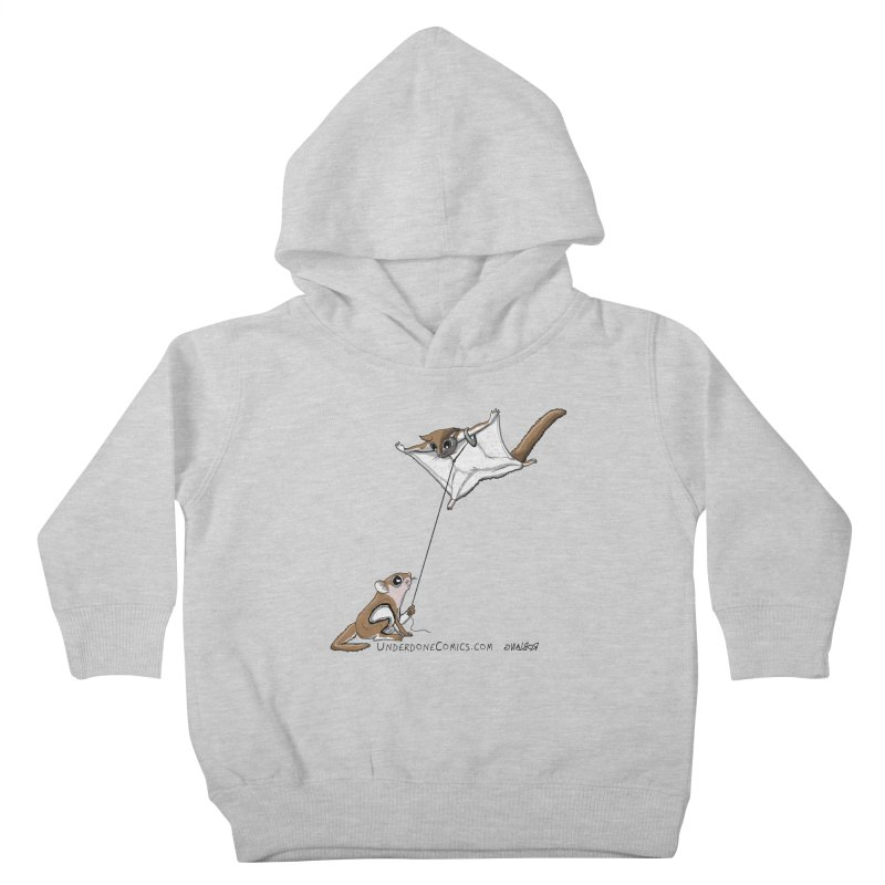 Flying Squirrel Training Kids Toddler Pullover Hoody by The Underdone Comics Shop
