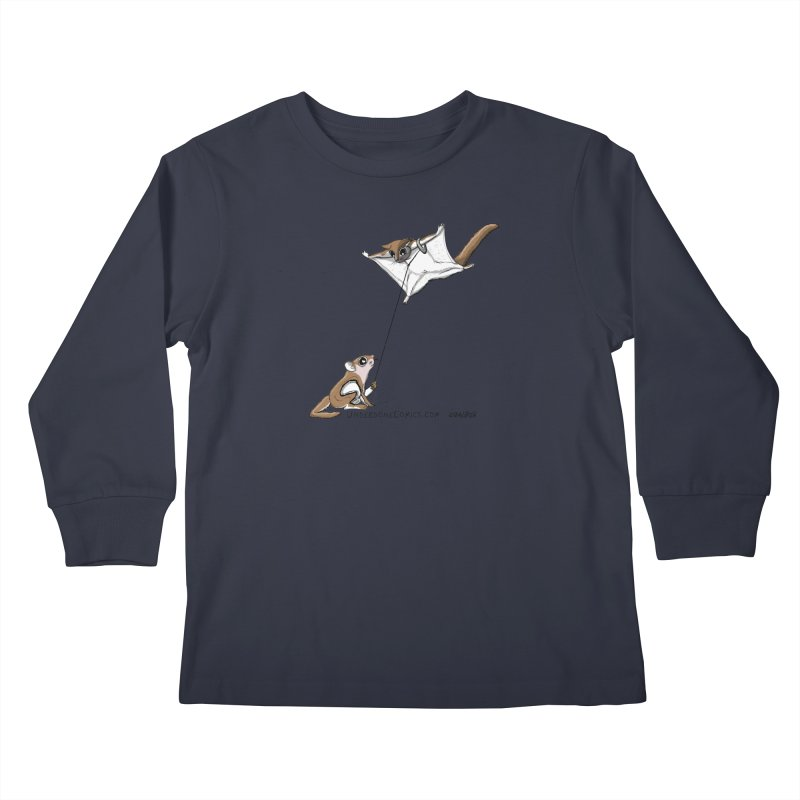 Flying Squirrel Training Kids Longsleeve T-Shirt by The Underdone Comics Shop