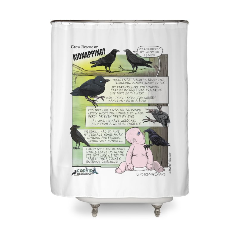 Crow Rescue or Kidnapping Poster Home Shower Curtain by The Underdone Comics Shop