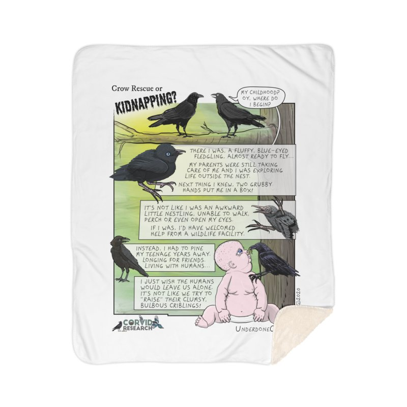 Crow Rescue or Kidnapping Poster Home Blanket by The Underdone Comics Shop