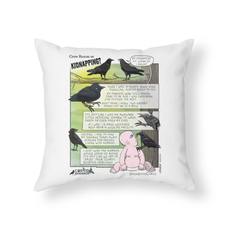 Crow Rescue or Kidnapping Poster Home Throw Pillow by The Underdone Comics Shop
