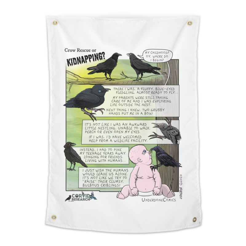 Crow Rescue or Kidnapping Poster Home Tapestry by The Underdone Comics Shop