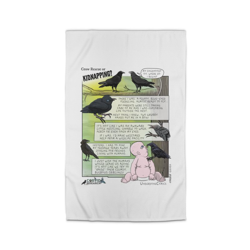 Crow Rescue or Kidnapping Poster Home Rug by The Underdone Comics Shop
