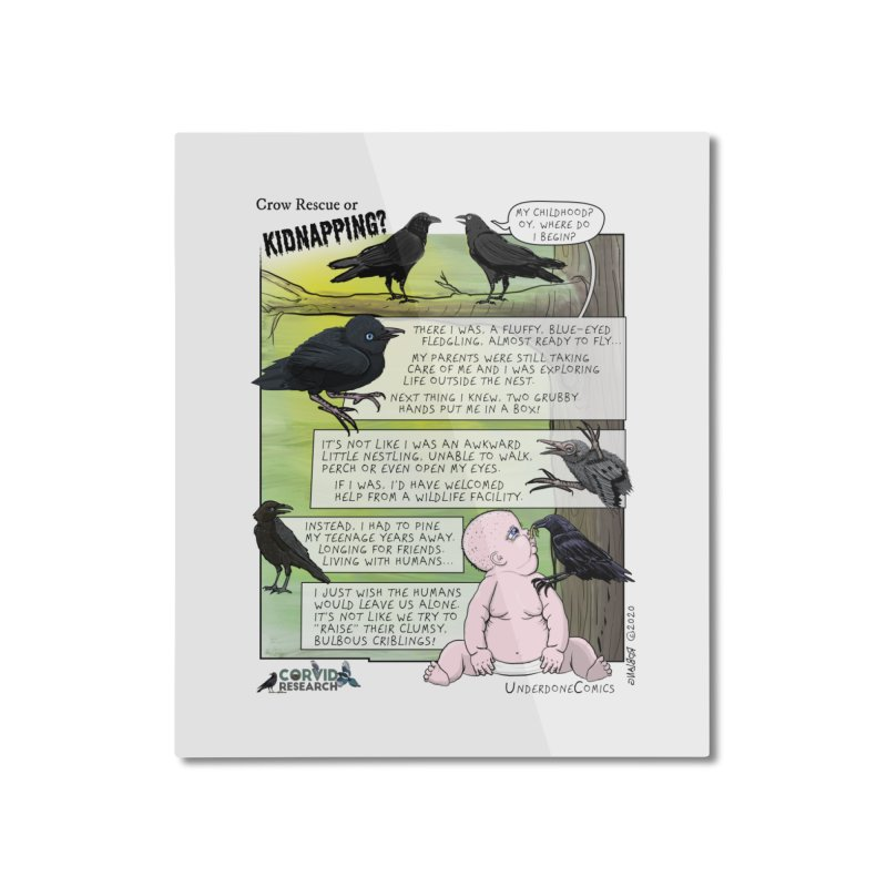 Crow Rescue or Kidnapping Poster Home Mounted Aluminum Print by The Underdone Comics Shop