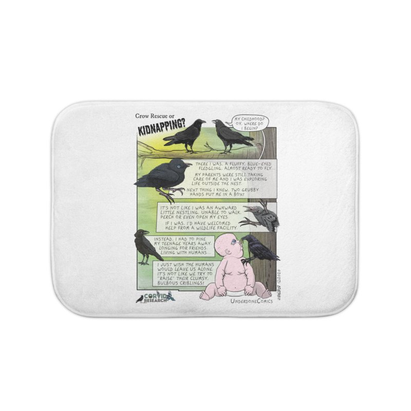 Crow Rescue or Kidnapping Poster Home Bath Mat by The Underdone Comics Shop