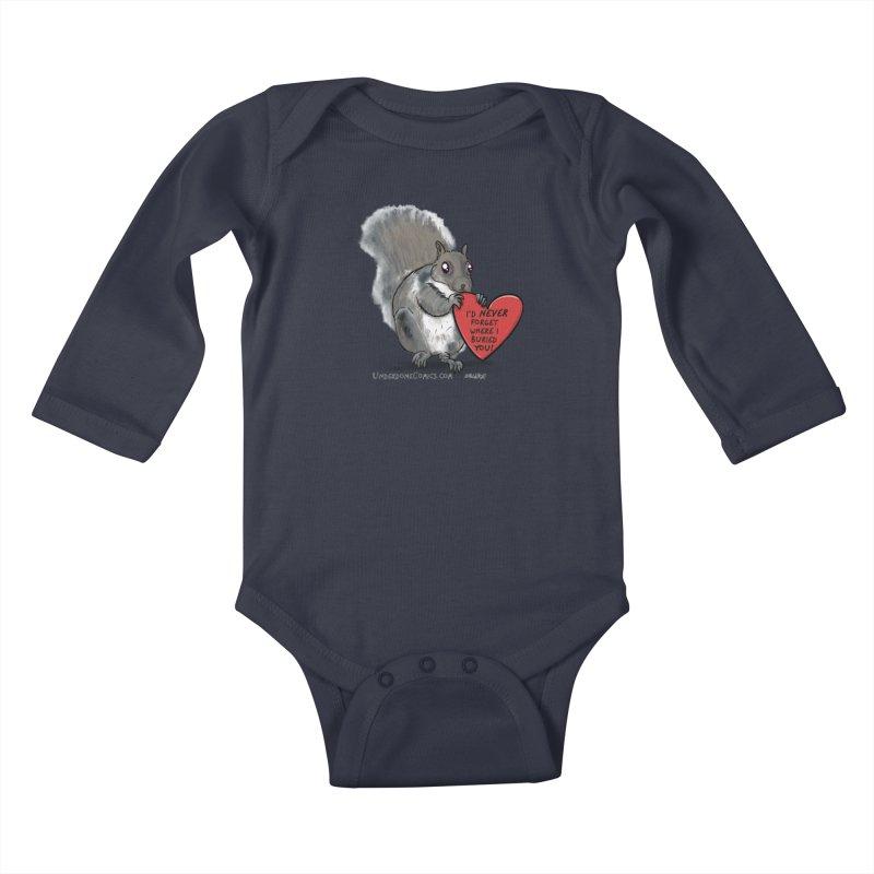 ValentineSquirrel Kids Baby Longsleeve Bodysuit by The Underdone Comics Shop