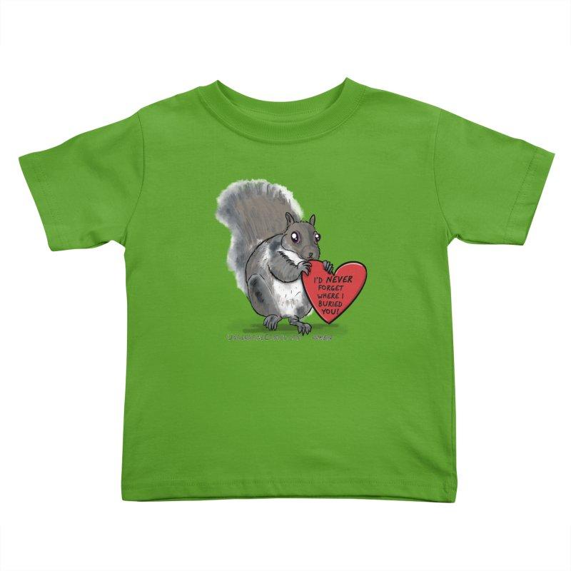 ValentineSquirrel Kids Toddler T-Shirt by The Underdone Comics Shop