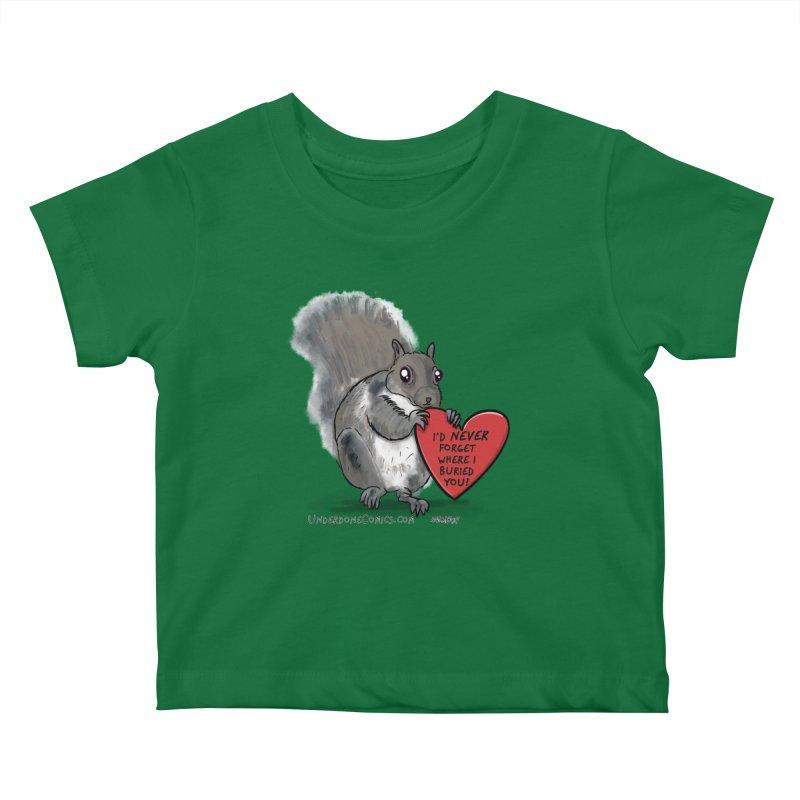 ValentineSquirrel Kids Baby T-Shirt by The Underdone Comics Shop