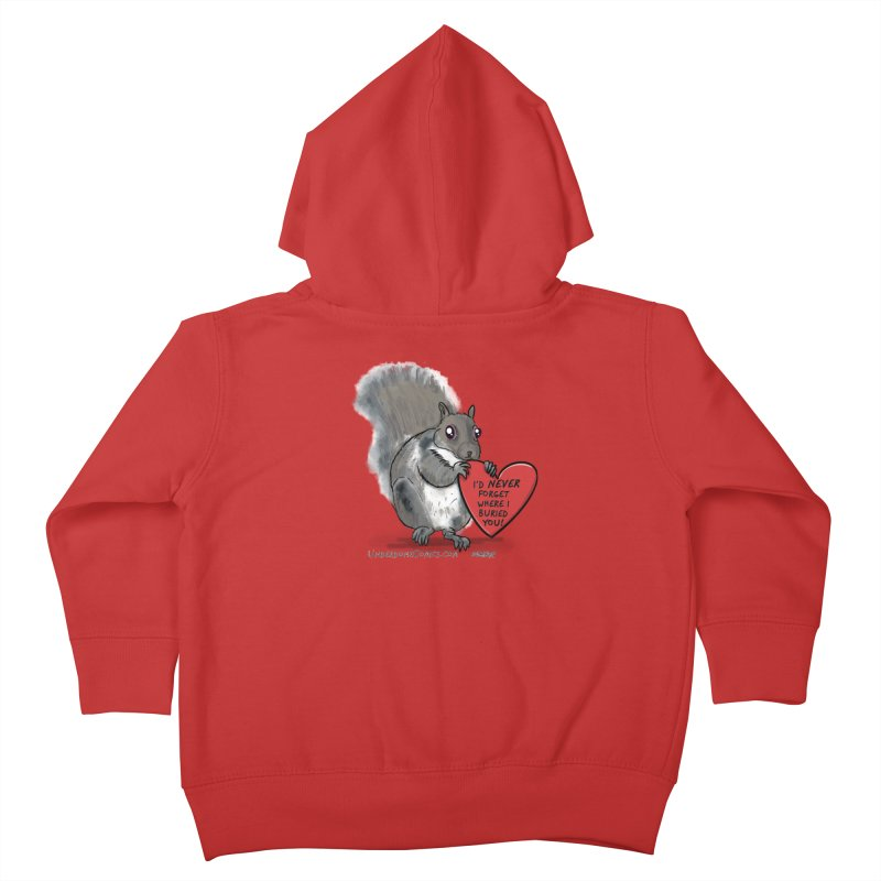 ValentineSquirrel Kids Toddler Zip-Up Hoody by The Underdone Comics Shop