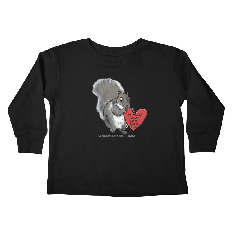 ValentineSquirrel Kids Toddler Longsleeve T-Shirt by The Underdone Comics Shop