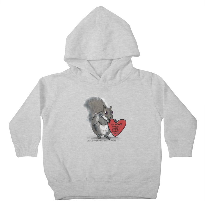 ValentineSquirrel Kids Toddler Pullover Hoody by The Underdone Comics Shop