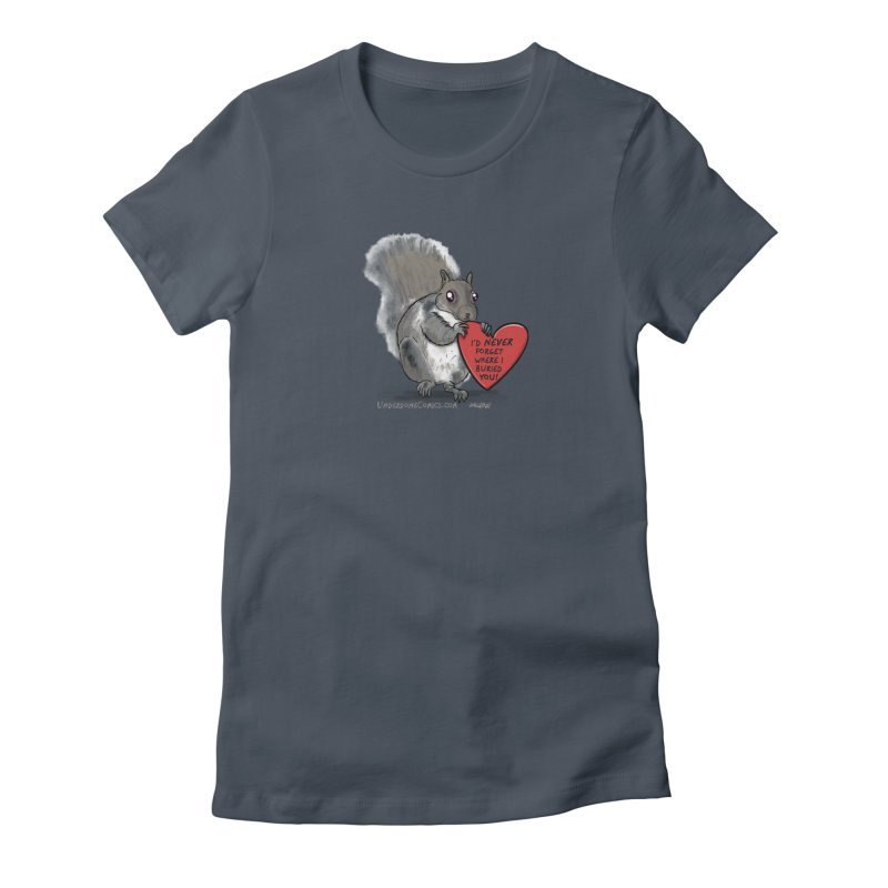 ValentineSquirrel Women's T-Shirt by The Underdone Comics Shop
