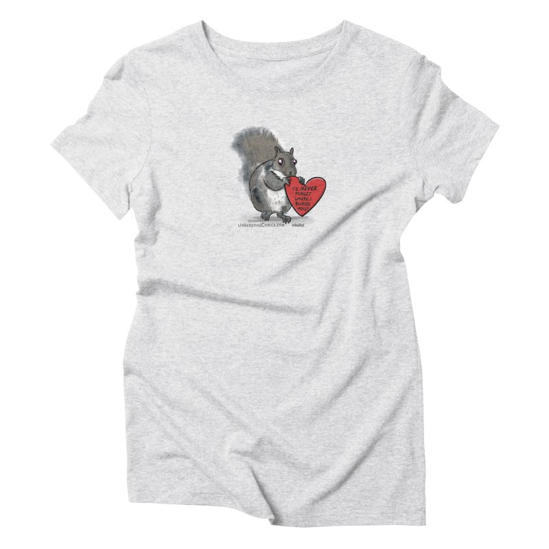 ValentineSquirrel Women's T-Shirt by The Underdone Comics Shop