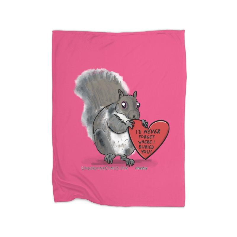 ValentineSquirrel Home Blanket by The Underdone Comics Shop