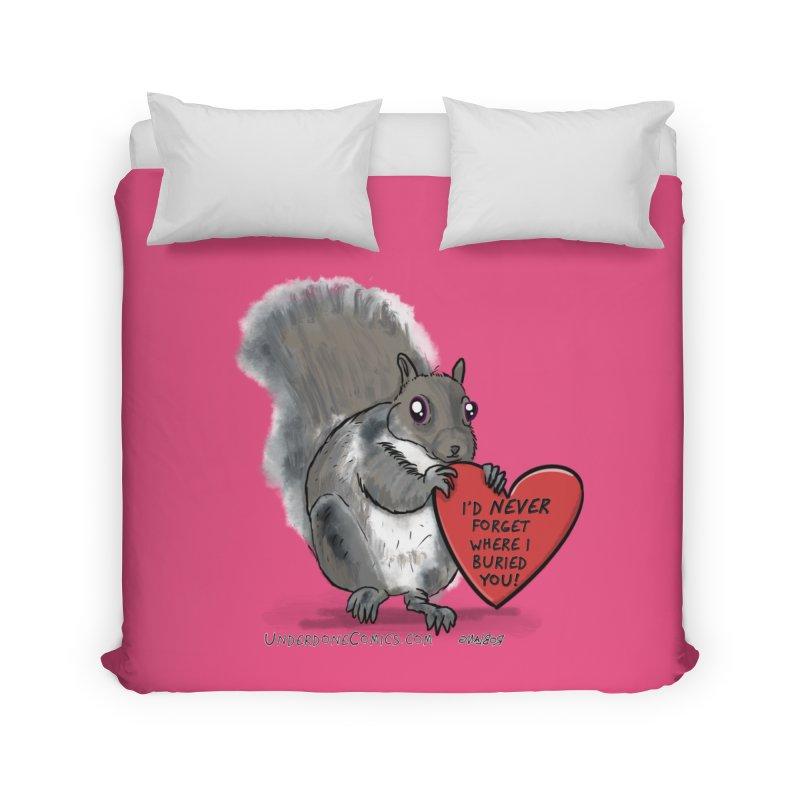ValentineSquirrel Home Duvet by The Underdone Comics Shop